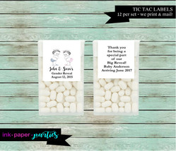 Gender Reveal Baby Shower Prince Princess Party Candy Mints Mint Labels ... - $3.50