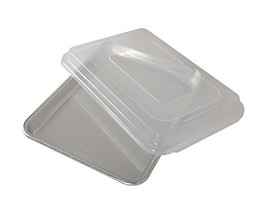 Nordic Ware Natural Aluminum Commercial Baker's Quarter Sheet with Lid - $30.99