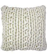 Pillow Decor - Hygge Nordic Cream Chunky Knit Pillow - $54.00