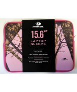"Mossy Oak Laptop Sleeve fits up to 15.6"" carrying case Pink Camo NEW Trees - $8.40"