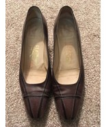 "Womens Brown Ferragamo 1.75"" Heel Shoes, Size 7.5B, Made In Italy  - $75.00"