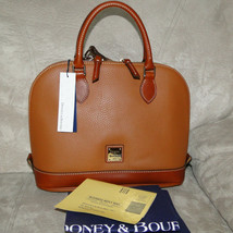 Dooney & Bourke Pebble Leather Zip Zip Satchel CARAMEL