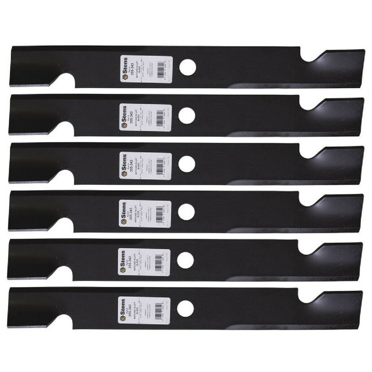 "Primary image for 6 Pk Blades fit Exmark 103-6398 103-6393 103-6383 103-6403-S 60"" Hi-Lift Lazer Z"