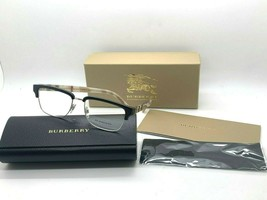 BURBERRY B2224 3600 BLACK /SILVER AUTHENTIC EYEGLASSES FRAME 54-18-145MM... - $106.67