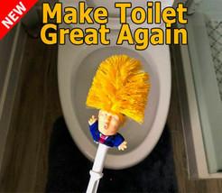 Donald trump toilet brush Bowl Cleaner Commander in Crap Make Toilet Gre... - $22.45