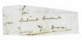 George Thomas Doo, Engraver to Queen Victoria Signed Letter Clip / Autog... - $24.24