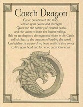 Earth Dragon Parchment-Like Page for Book of Shadows, Altar! - $1.95
