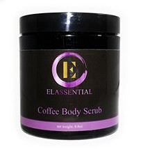 Elassential Organic Kona Coffee Scrub - 8oz Anti Cellulite and Stretch Mark - $25.19