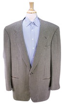 * DION SCOTT * Custom Made for FRANK THOMAS Black/Gold Check Wool Sportc... - $280.00