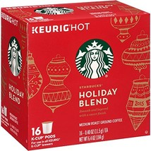 Starbucks Holiday Blend Medium Roast Ground Coffee K-Cups, 0.4 oz, 16 count - $21.99