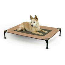 """KH Pet Products Original Pet Cot Elevated Pet Bed Large Chocolate/Mesh 30"""" x 42"""" image 1"""