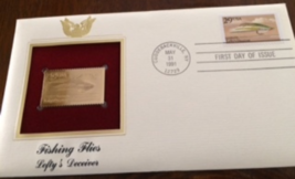 FISHING FLIES : Lefty's Deceiver First Day Gold Stamp Issue May. 31, 1991 - $6.50