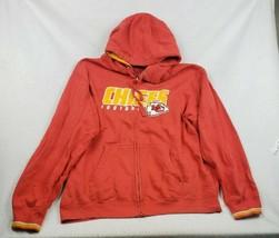 KANSAS CITY CHIEFS Team Appeal NFL Hoodie Zip Up Sweatshirt Size XL - $19.77