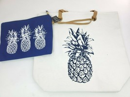 PARADE STREET PRODUCTS Pineapple Tropical Canvas Tote Bag Set - $14.95
