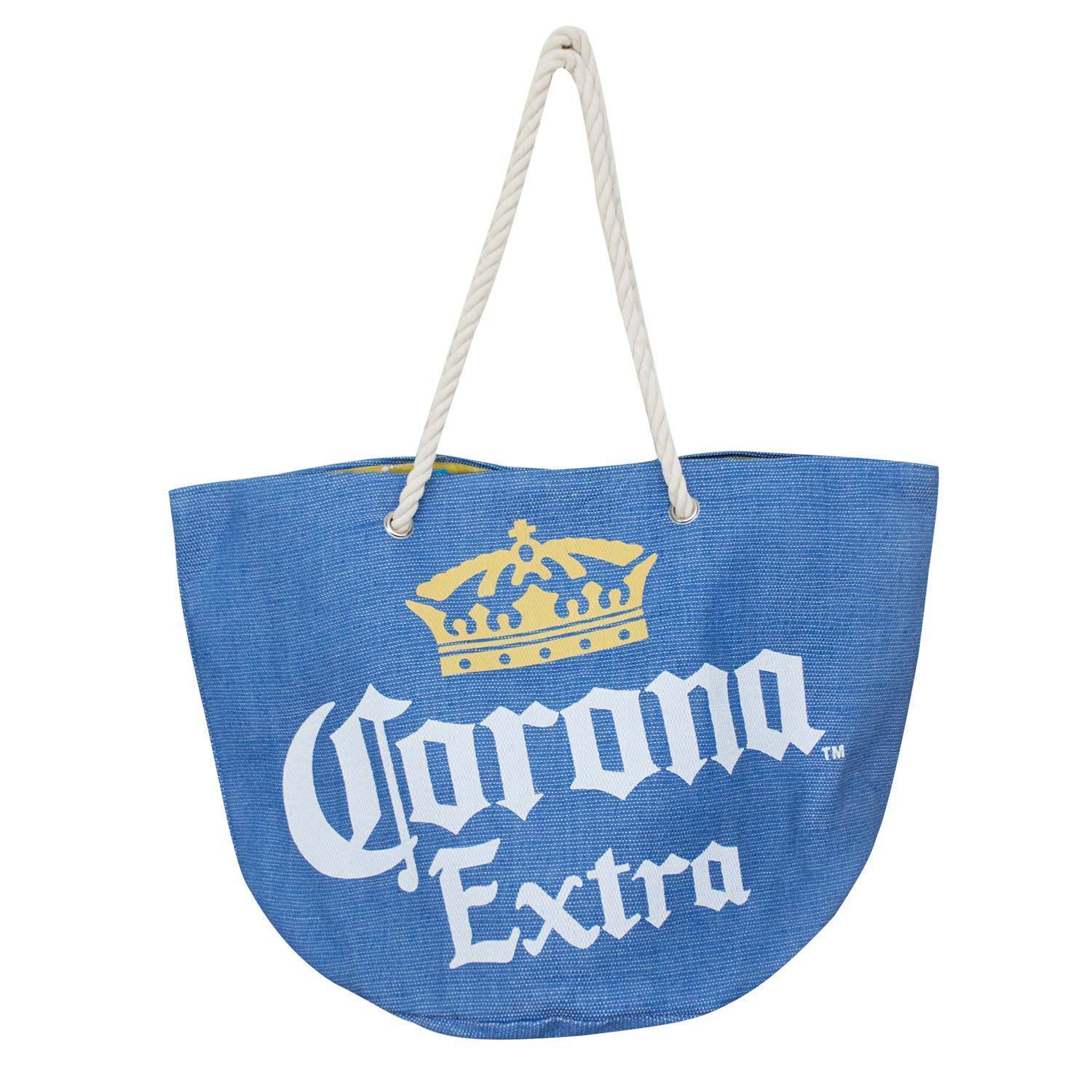 Corona Extra Beach Tote Bag Blue