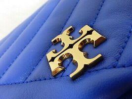 NWT Tory Burch Nautical Blue Kira Chevron Convertible Shoulder Bag image 9