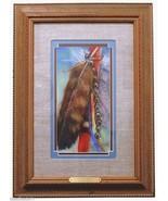 Hawk Bells Original Pastel Painting by Carol Theroux 18 x 13.5 Frame Mat... - $175.50