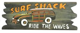 Surf Shack Ride the Waves Wood Wall Plaque 16 Inches - $35.98