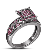 Round Cut Pink Sapphire Women's Engagement Ring 14k Black Gold Finish 92... - $87.99