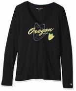 Champion NCAA Oregon Ducks Women's University Long Sleeve V-Neck Tee, La... - $13.09