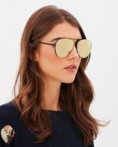 Quay Australia Black/Pink x Missguided Cool Innit 56mm Aviator Sunglasses - $46.04