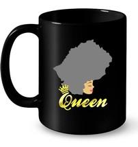 Lesotho Queen Lesotho Map Dark Hair Gift Coffee Mug - $13.99+