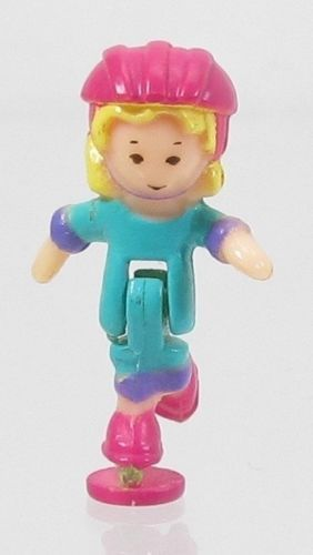 1994 Vintage Polly Pocket Dolls Polly on the Go - Polly Bluebird Toys