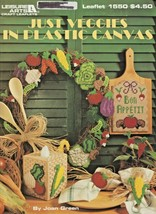 """Leisure Arts """"Just Veggies In Plastic Canvas"""" 20 Designs - Gently Used - $5.50"""