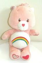 "Vintage Interactive Rainbow Cheer Bear 13"" Care Bear Talking Playing 2004 rare - $30.54"