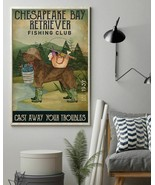 Fishing Cast Away Chesapeake Bay Retriever, Art Prints Poster Home Decor... - $25.59+