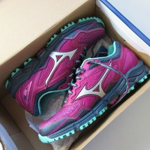 NWT Mizuno J1GD177103 Wave Daichi 2 in Beetroot Silver Trail Running Shoes 8 - $62.00
