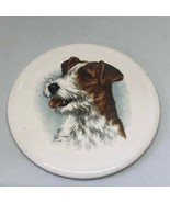 """Antique Vintage Victorian Terrier Dog Porcelain Art 3.5""""  - $14.00"""