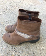 Merrell Luxe Mid Bitter Women's Chocolate Leather Zip Ankle Boots Size 7.5 - $35.52