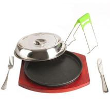 Cast Iron Plate Grilled Fillet Steak boutique rosewood suit 26cm - $83.59