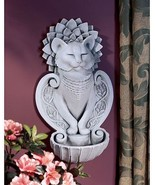 Peaceful Zen Meditation Feline Dignity Smiling Kitty Cat Home Garden Wall Font - $61.33