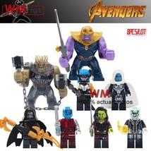 8pcs/set Avengers Infinity War Thanos Black Order Gamora Nebula Minifigures Lego - $17.99