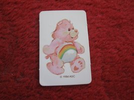 1984 Care Bears- Warm Feeling Board Game Replacement part: Cheer Bear ID Card  - $1.00