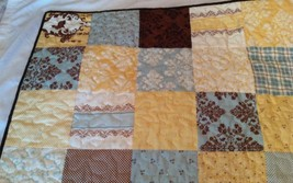 Hand Made Baby Quilt Blanket - Lap Quilt - Scrappy Block -  Moda Lily & ... - $94.05