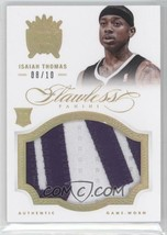 2012-13 Panini Flawless Isaiah Thomas Rookie Patches RC Gold 8/10 ALL STAR - $134.96