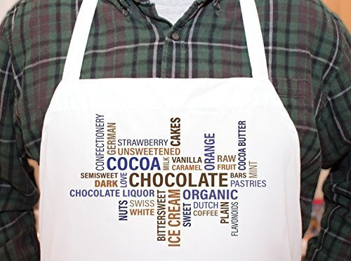 Chocolate Lover Cocoa Personalized Chefs Funny Cooking Apron Kitchen, BBQ Grill,