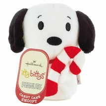Hallmark Peanuts Christmas Candy Cane Snoopy Itty Bittys Plush New with Tag - $10.34