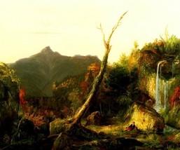 Autumn Landscape Mount Chocorua American Waterfall Painting By Thomas Cole Repro - $10.96+