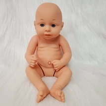 "12"" Baby Doll All Vinyl Poseable Blue Eyes Bald Realistic 12262 TC-9   B230 - $14.99"