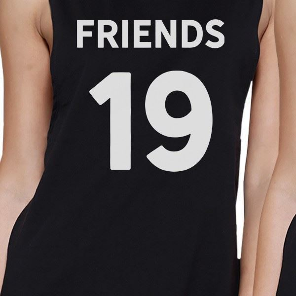 Friends Since Custom Years BFF Matching Black Muscle Tops image 2