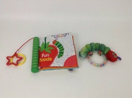 Eric Carle The Very Hungry Caterpillar Fun Foods Baby Teether Soft Book ... - $12.82