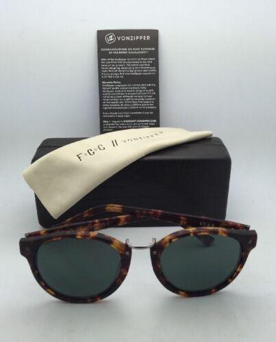 F.C.G. VONZIPPER Sunglasses VZ STAX Tortoise & Pewter Frame w/ Grey-Green Lenses image 2