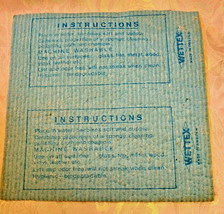 WETTEX Eureka The Cleaner People Advertising Chamois - Sweden image 2