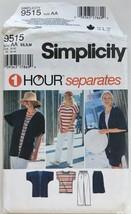 Casual Kimono SLV Jacket Top Pants Skirt Misses Simplicity Sewing Patter... - $7.00
