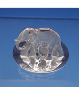 English Sterling Silver Place Card Holder with Elephant Circa 2001 (#3165) - $143.10