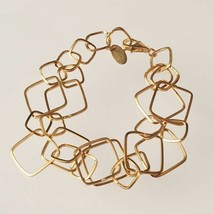 Silber Armband 925 Folie Gold Rombi Mattiert By Maria Ielpo Made in Italien - $204.30
